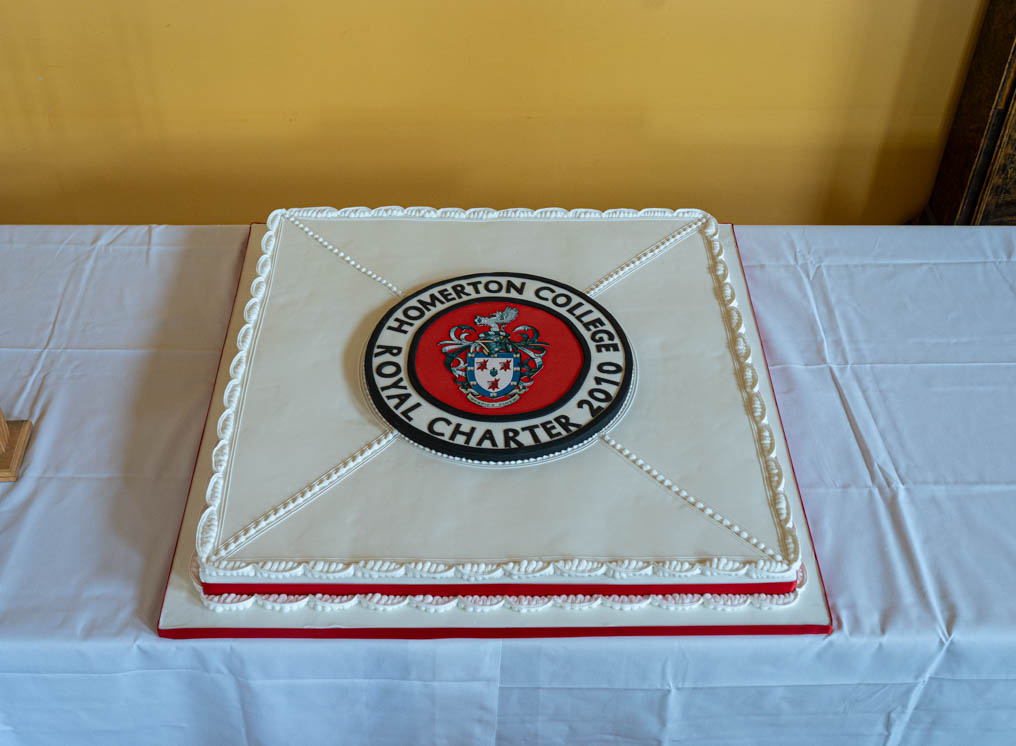 large cake, Homerton College, Royal Charter